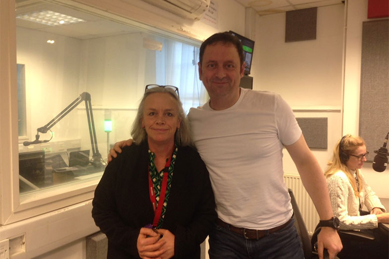 Jo at BBC Radio Berkshire with Matt Allwright January 2018